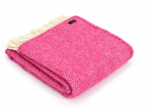 Pure New Wool Throw - Cerise Pink