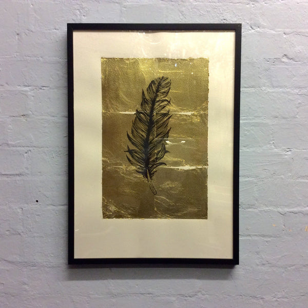 Pitfield Bespoke Gold Emblem Artwork - Feather