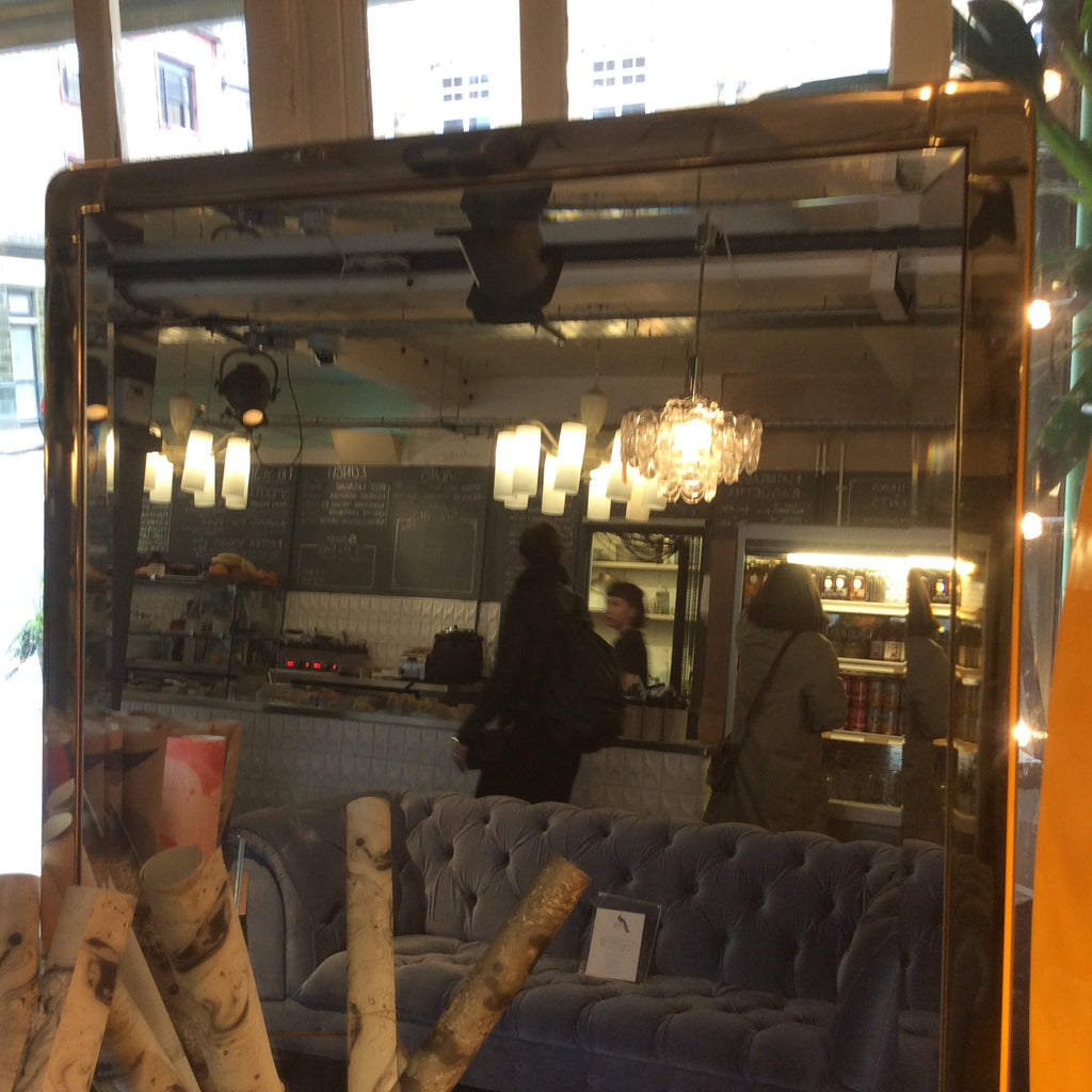 Vintage Chrome Dressing Table Mirror