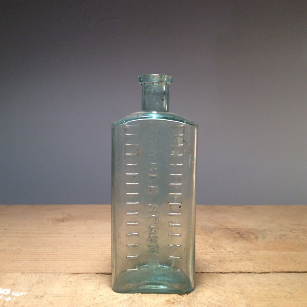 Vintage Clear Glass Table Spoons Bottle