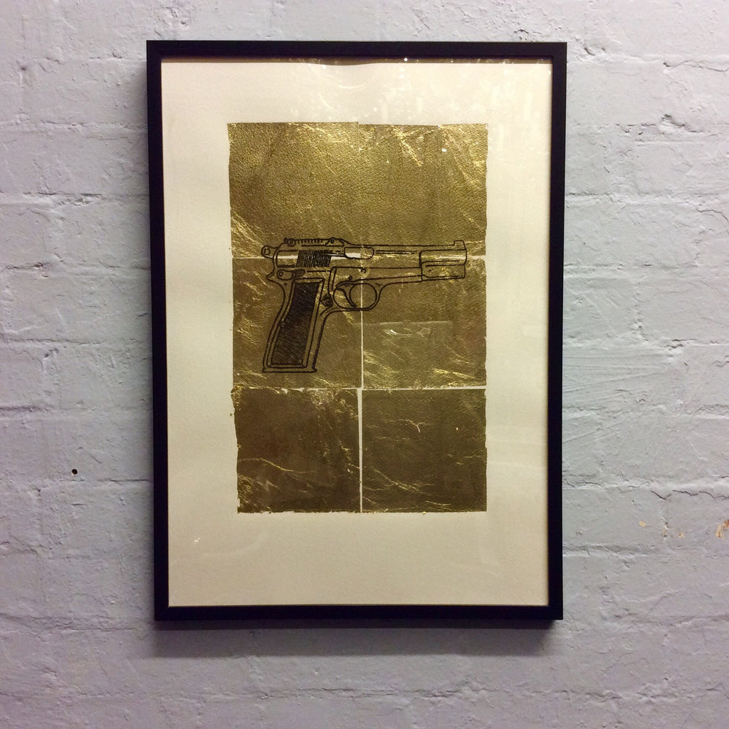 Pitfield Bespoke Gold Emblem Artwork - Gun