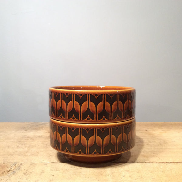 Vintage Hornsea Brown Heirloom Bowl