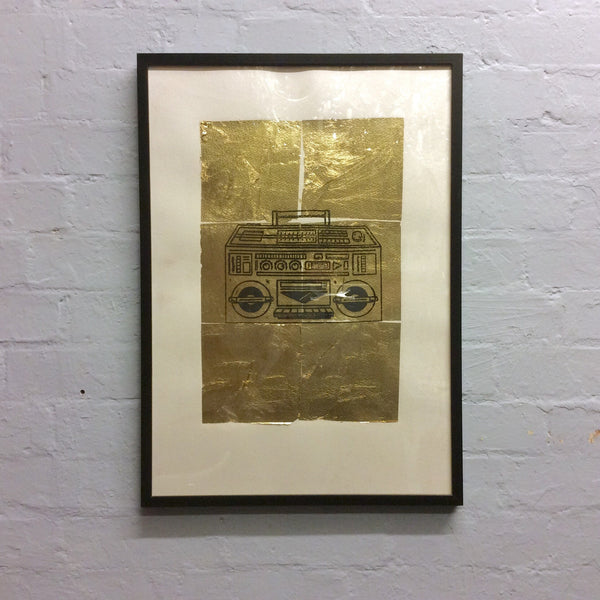 Pitfield Bespoke Gold Emblem Artwork - Ghetto Blaster