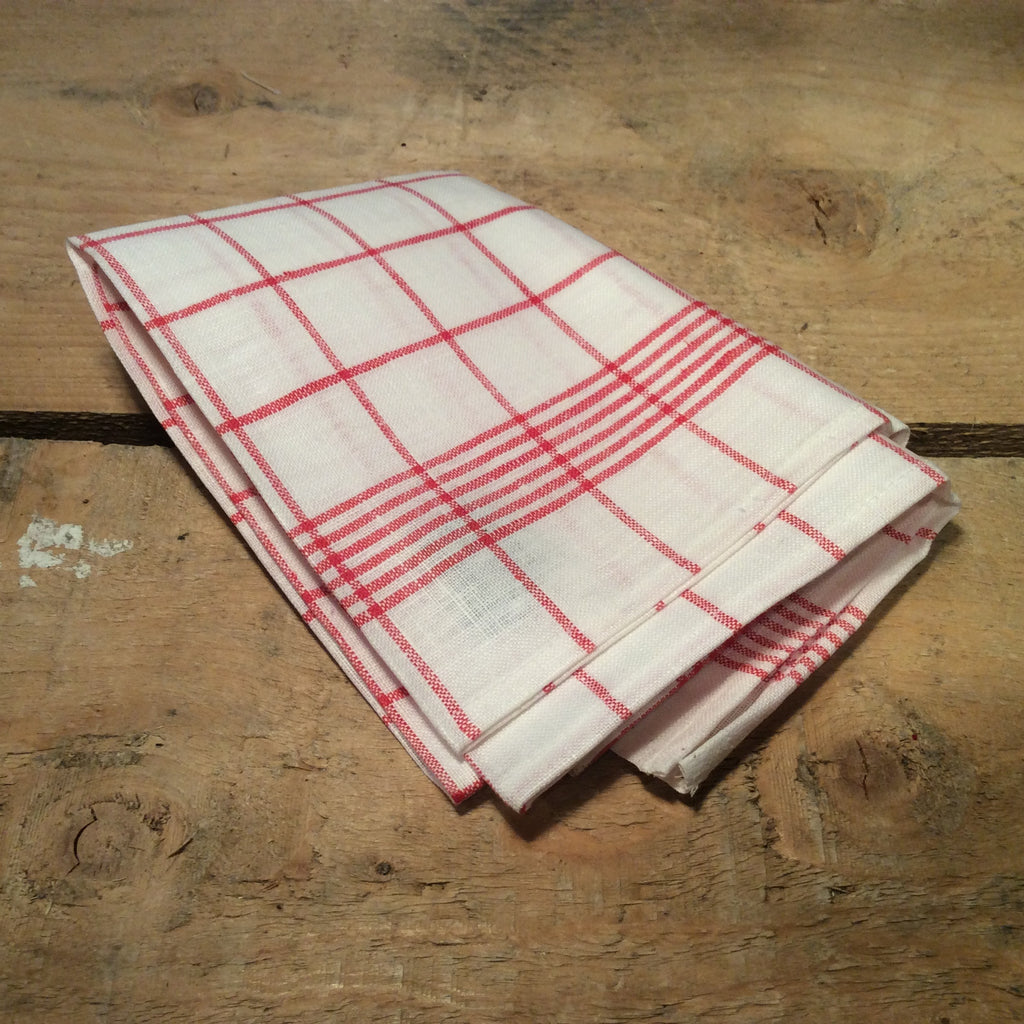 Traditional Checked Teatowel