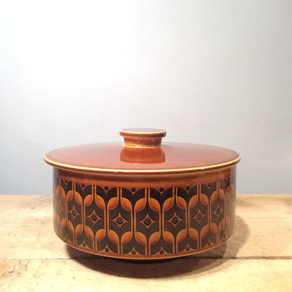 Vintage Ceramic Hornsea Brown Heirloom Serving Dish