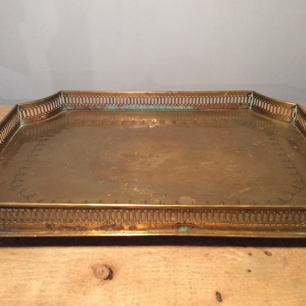 Vintage Silver Plated Rectangular Footed Tray