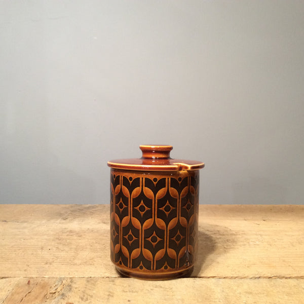 Vintage Hornsea Brown Heirloom Preserve Jar
