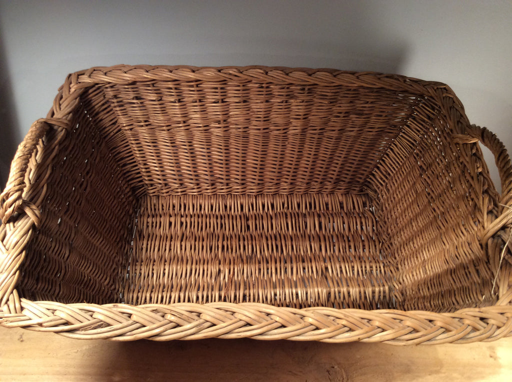 Vintage Rectangular Wicker Basket 60x40cm