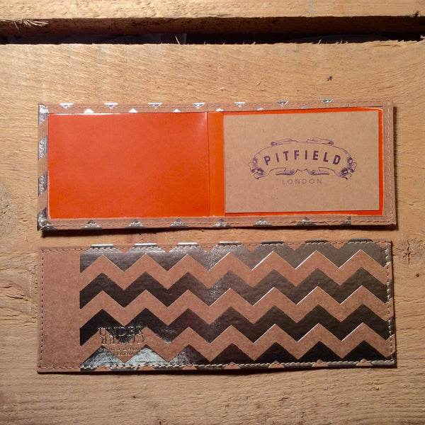 Card Holder - Chevron Raw
