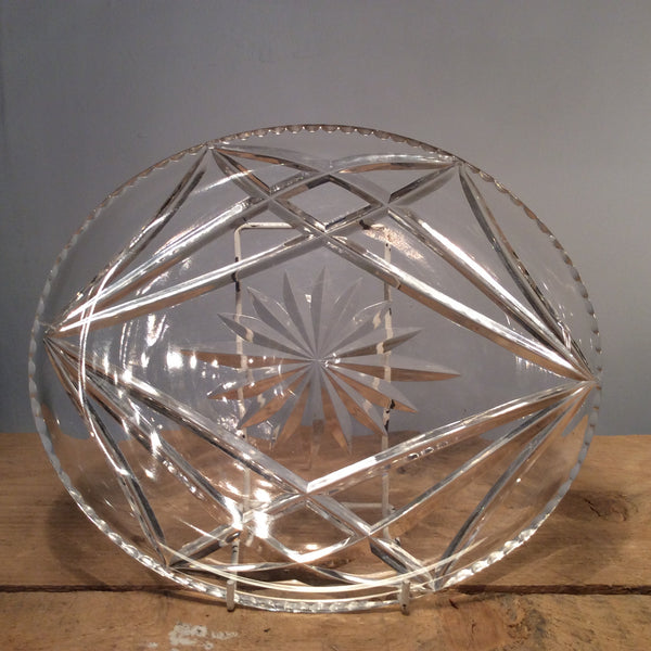 Vintage Cut Crystal Fruit Plate