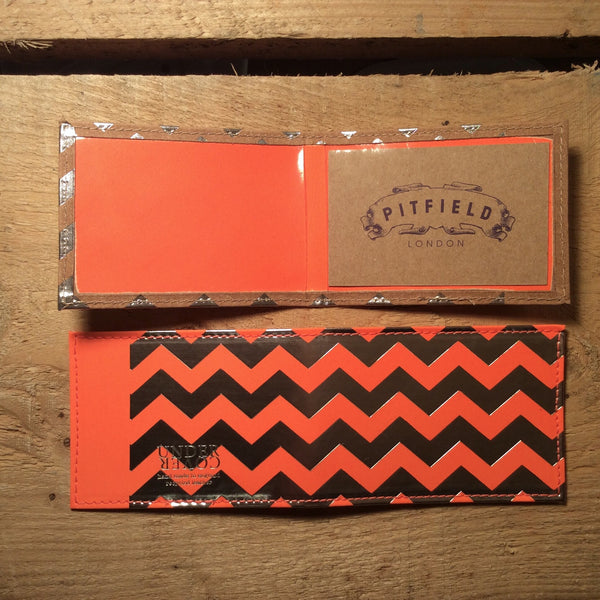 Card Holder - Chevron Fluro Orange