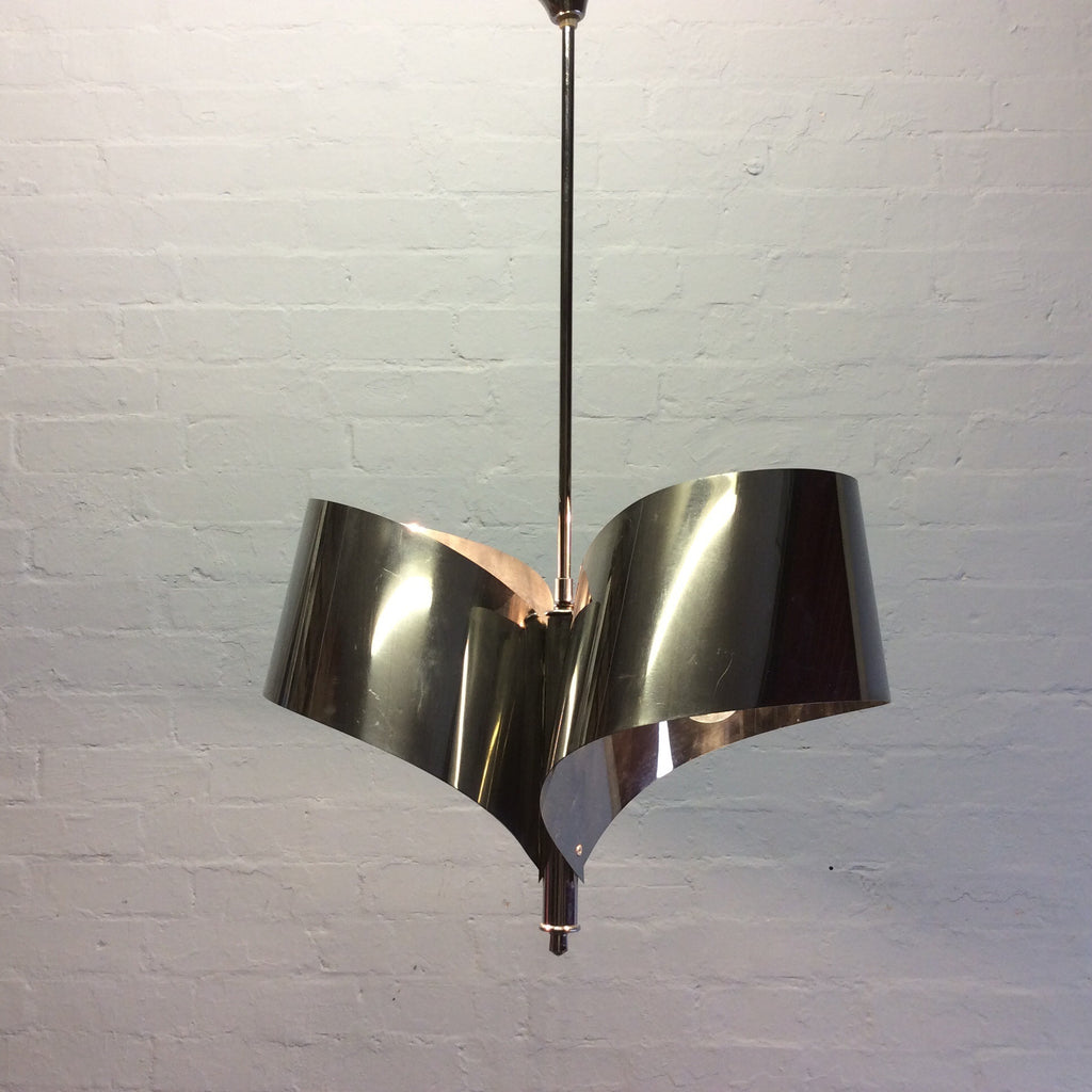 Vintage Lighting - Chrome Double Hanging Lamp