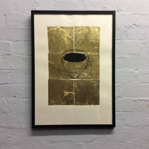 Pitfield Bespoke Gold Emblem Artwork - Coffee Cup