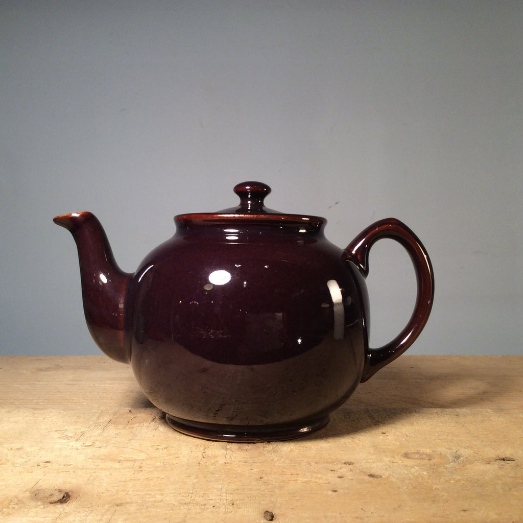 Vintage Brown Teapot - Large