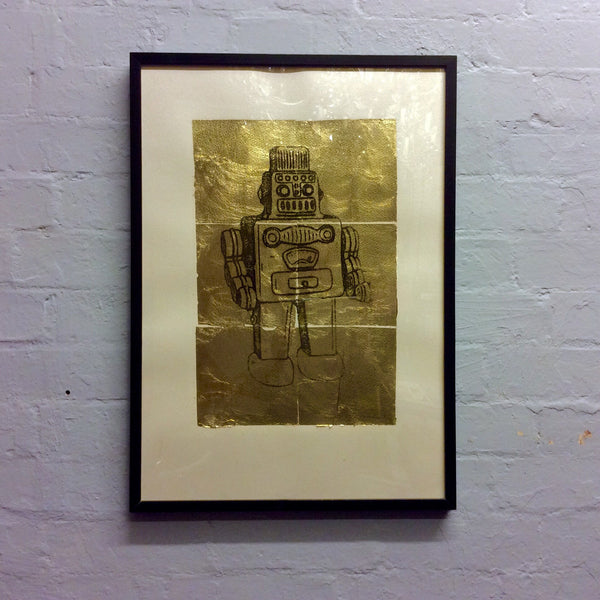 Pitfield Bespoke Gold Emblem Artwork - Robot