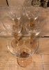 6 Sherry Glasses - Peach Stems