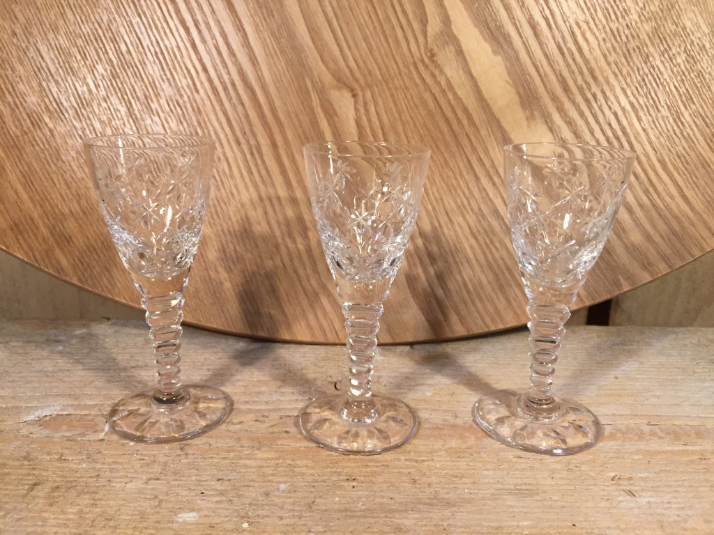 Stars mini cut glass set of 4
