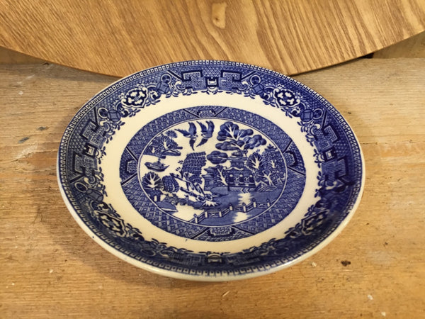 Blue and White chinoiserie saucer