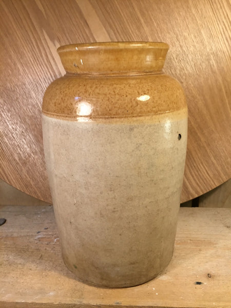 Vintage ceramic salt jar Large