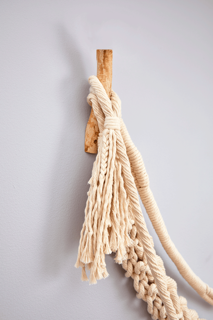 "Wall Tendrils by COG has 3 separate, uniquely individual ""tendrils"". Handwoven, braided and wrapped."