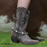 Chained Leather Boot Chain with Horseshoes