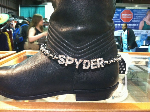 Spyder Boot Chain, Boot Jewelry by Chained Leather