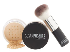 COLORFLO LOOSE MINERAL FOUNDATION with BLENDER BRUSH SET