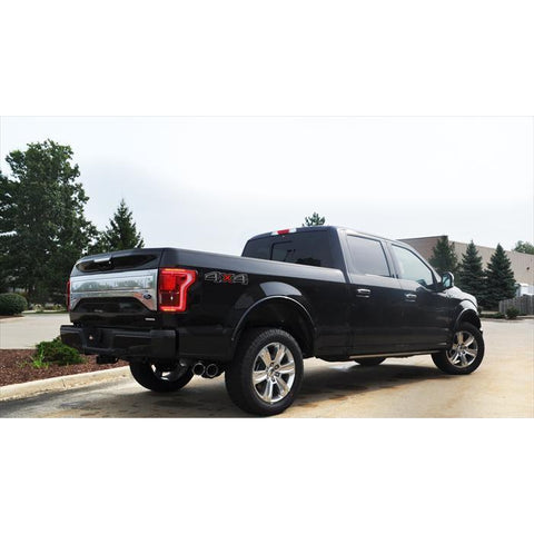 "Corsa - F150 5.0 3.0"" Single Side Exit Cat-Back Exhaust System with Twin 4.0"" Tip Sport Sound Level - Redline Motorworks"