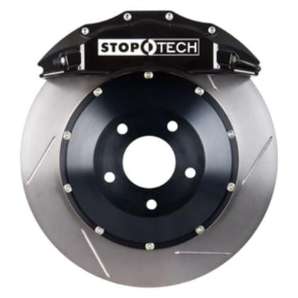 Stoptech 08-13 BMW M3/11-12 1M Coupe Rear Black ST-40 Calipers 355x32 Slotted Rotors, Pads & SS Lines - Redline Motorworks