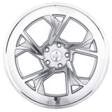 Radi8 Wheels r8c5 | 19x10 | 5x120 | ET40 | Matte Silver/Machine Face