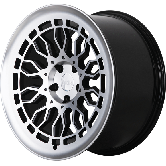 Radi8 Wheels r8a10 | 18x9.5 | 5x100 | ET35 | Black/Machine Face - Redline Motorworks