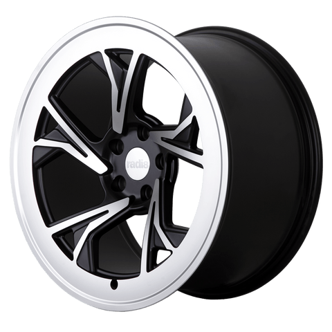 Radi8 Wheels r8c5 | 19x10 | 5x120 | ET40 | Black/Machine Face - Redline Motorworks