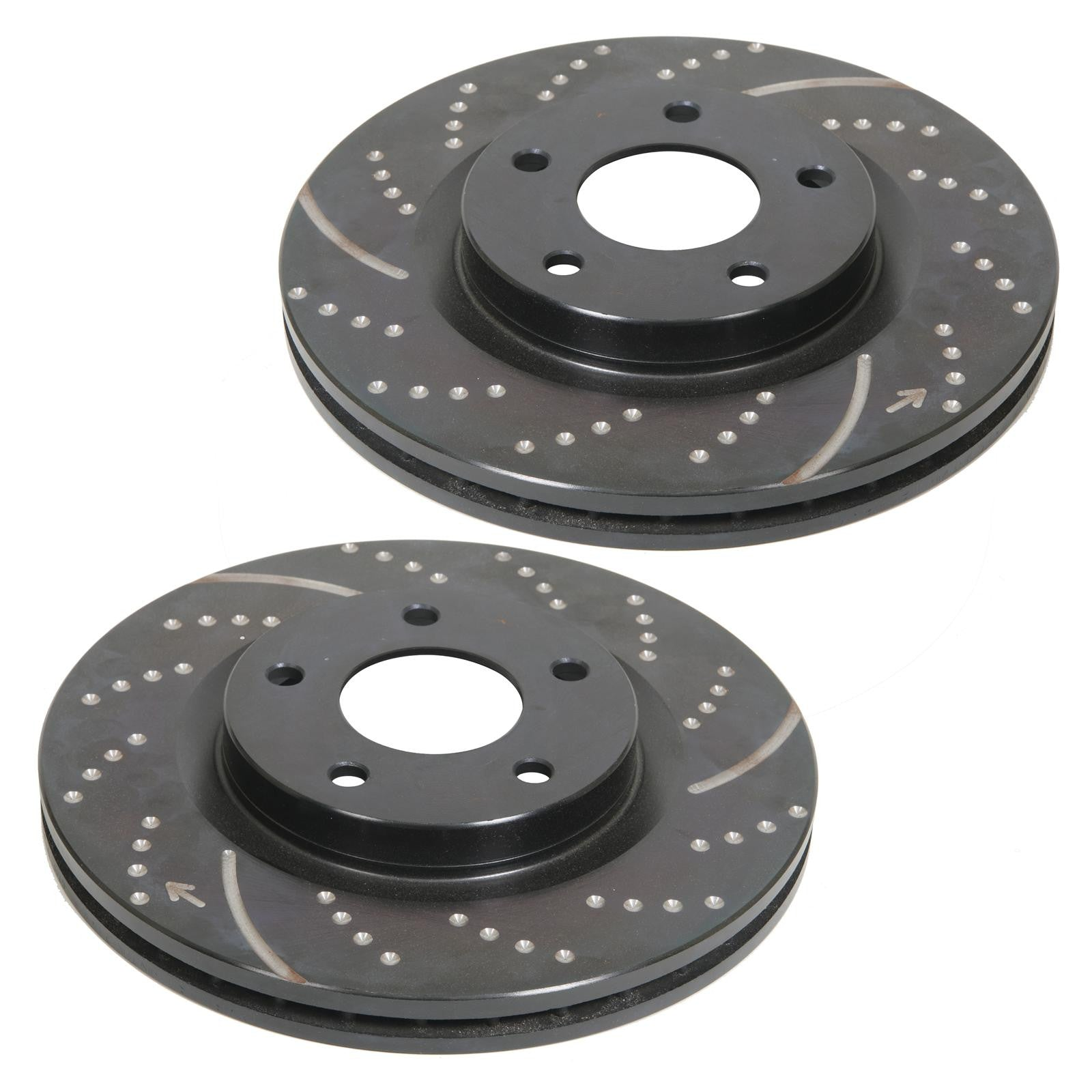 Pair of EB Front Vented Brake Discs to fit AUDI TT 3.2 02-06