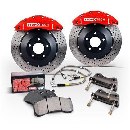 Stoptech BBK 07-09 BMW 335i/335d Front 355x32 Slotted 2pc Rotors ST-60 Red Calipers - Redline Motorworks