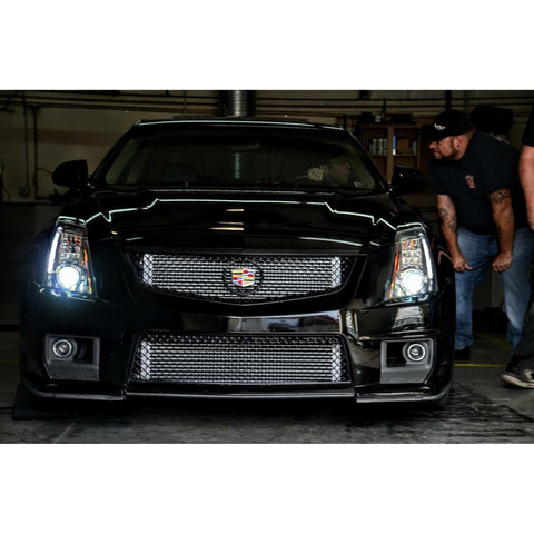 Vadder Dual Core Heat Exchanger for 2009-2015 CTS-V (Flat Chrome) - Redline Motorworks