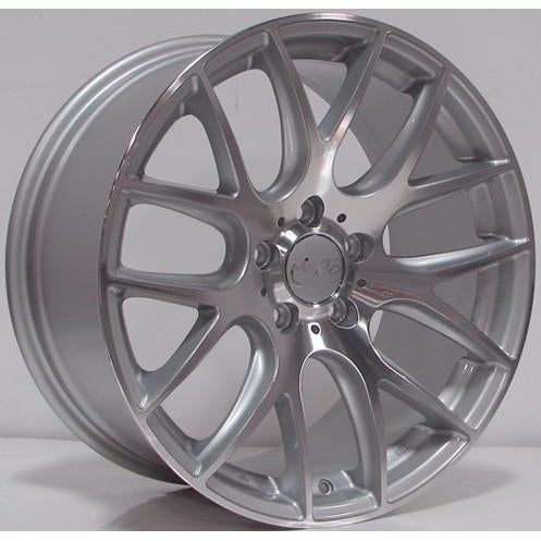 Miro 111 18x8.5 ET35 5x112 66.6 Silver with Machine Polished Face Wheel - Redline Motorworks
