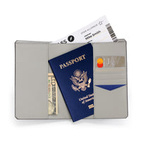 Leather Passport Cover by GILBANO - model YORK - color blue