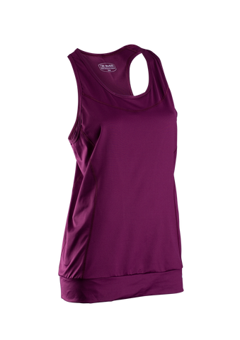 SUGOI Women's Verve Fitness Tank, Boysenberry (11014F)