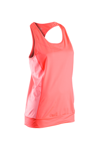 SUGOI Women's Verve Fitness Tank, Electric Salmon (11014F)