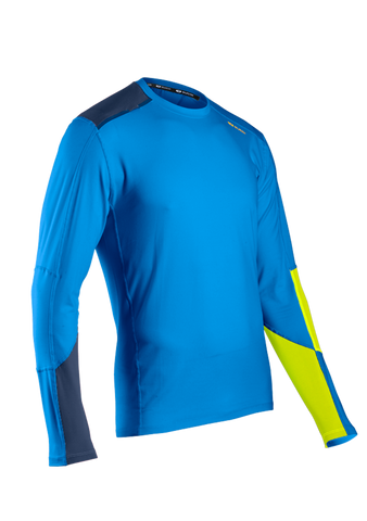 SUGOI Men's Titan Core Long Sleeve (L/S), True Blue/Sulphur (60015U)