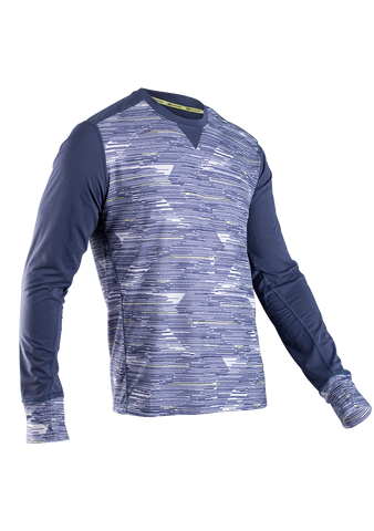 SUGOI Men's Ignite L/S, Coal Blue/High-rise/Sulphur (60060U)