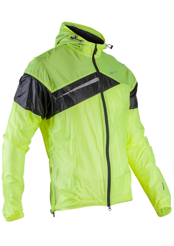 SUGOI Men's Run For Cover Jacket, Black/Supernova (71201U)