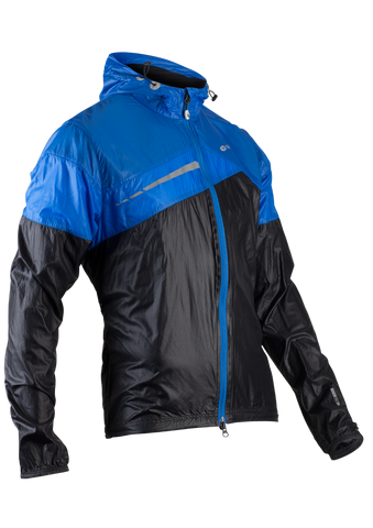 SUGOI Men's Run For Cover Jacket, Black/True Blue (71201U)