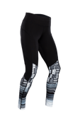 SUGOI Women's MidZero Tight Text Print, Black/Text (U405020F)