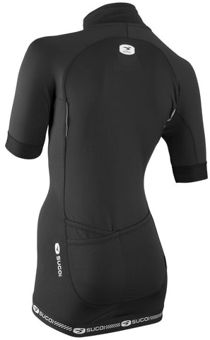 SUGOI Women's RS Thermal Jersey, Black Alt (57410F)