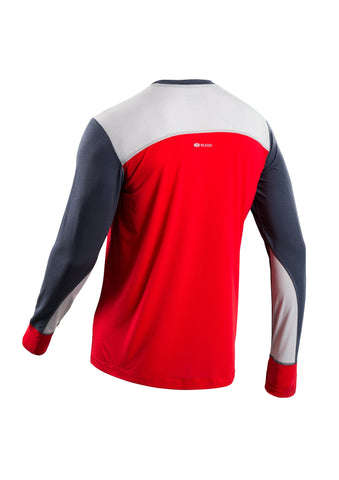 SUGOI Men's Coast Long Sleeve, Chili red Alt (U601000M)