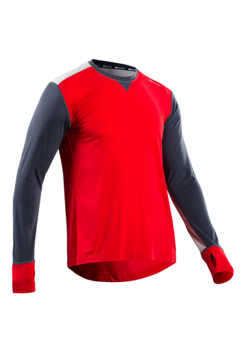SUGOI Men's Coast Long Sleeve, Chili red (U601000M)