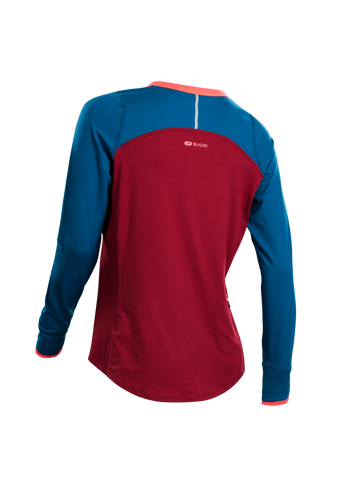 SUGOI Women's Fusion Core Long Sleeve, Varsity Red Alt (U602000F)