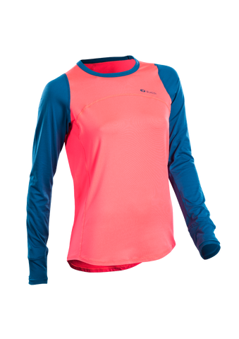 SUGOI Women's Fusion Core Long Sleeve, Electric Salmon (U602000F)