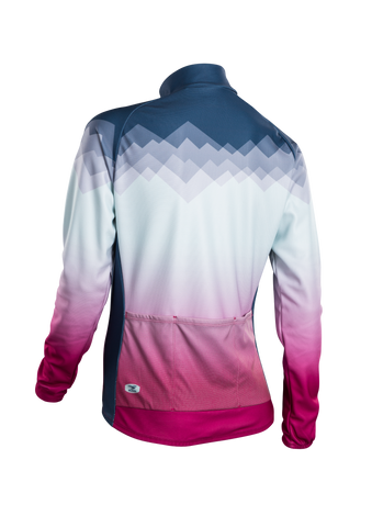 SUGOI Women's Evolution Long Sleeve (L/S) Jersey, Coal Blue/Sangria Alt (U675500F)
